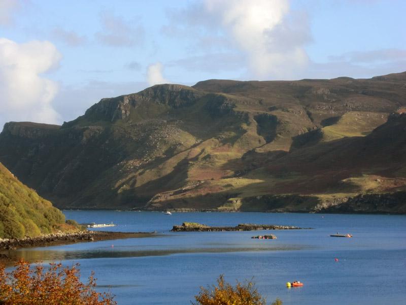Ausblick über die Bucht von Portree