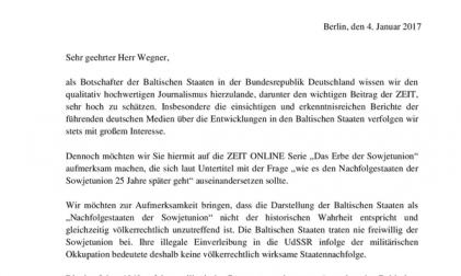 Brief Botschafter Baltikum