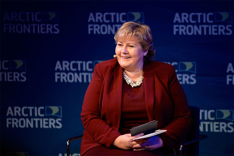 Erna Solberg auf der Arctic Frontiers Konferenz