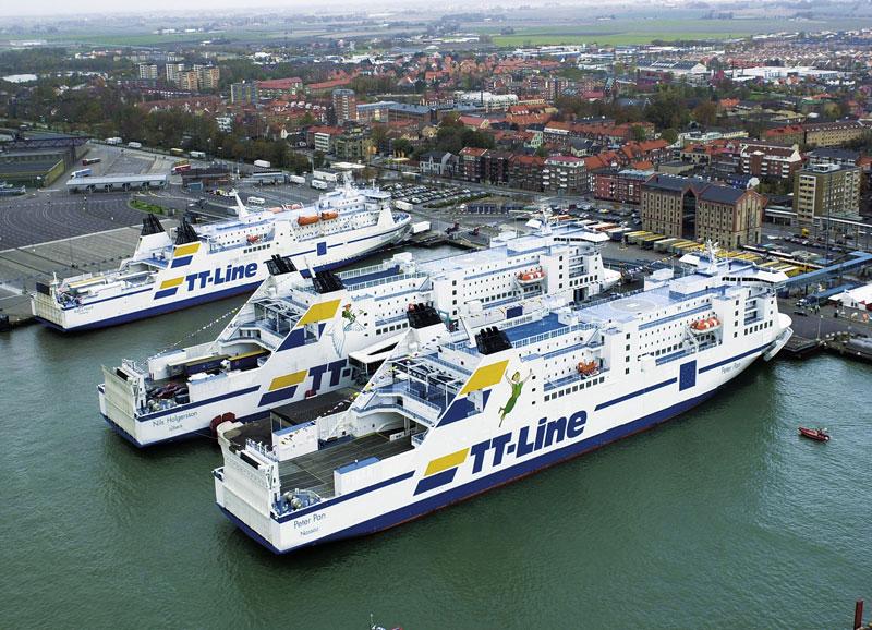 Im Hafen von Trelleborg. (Bildquelle: TT-Line)