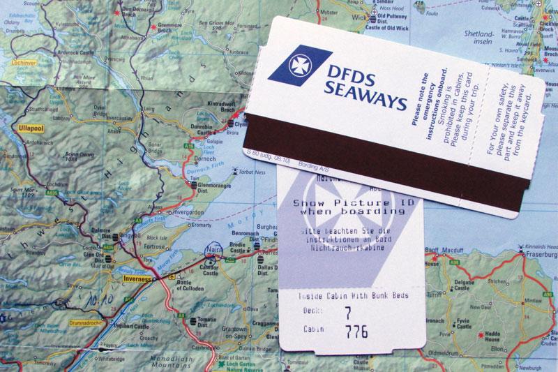Landkarte Schottland Ostküste