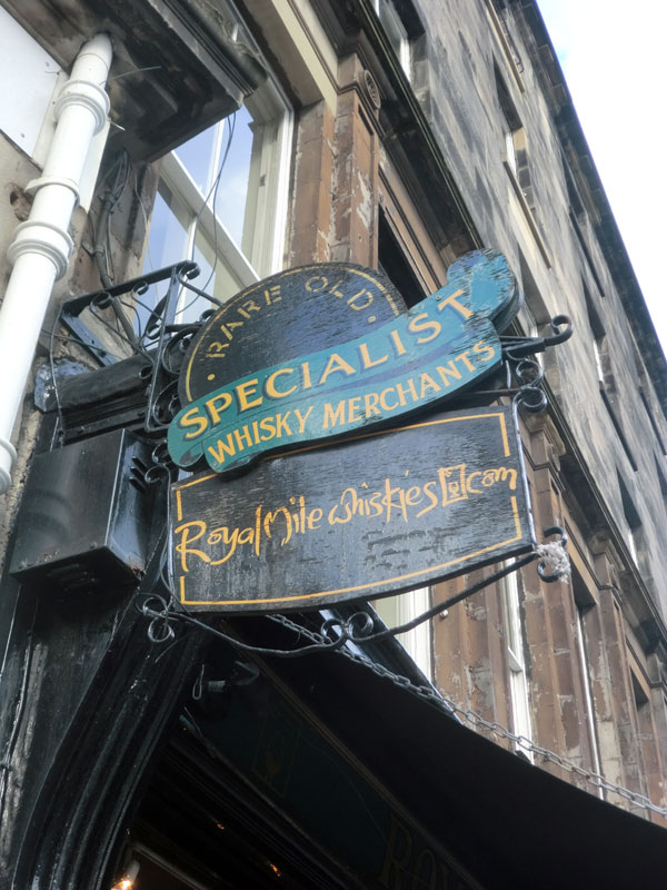 Whisky Geschäft Edinburgh