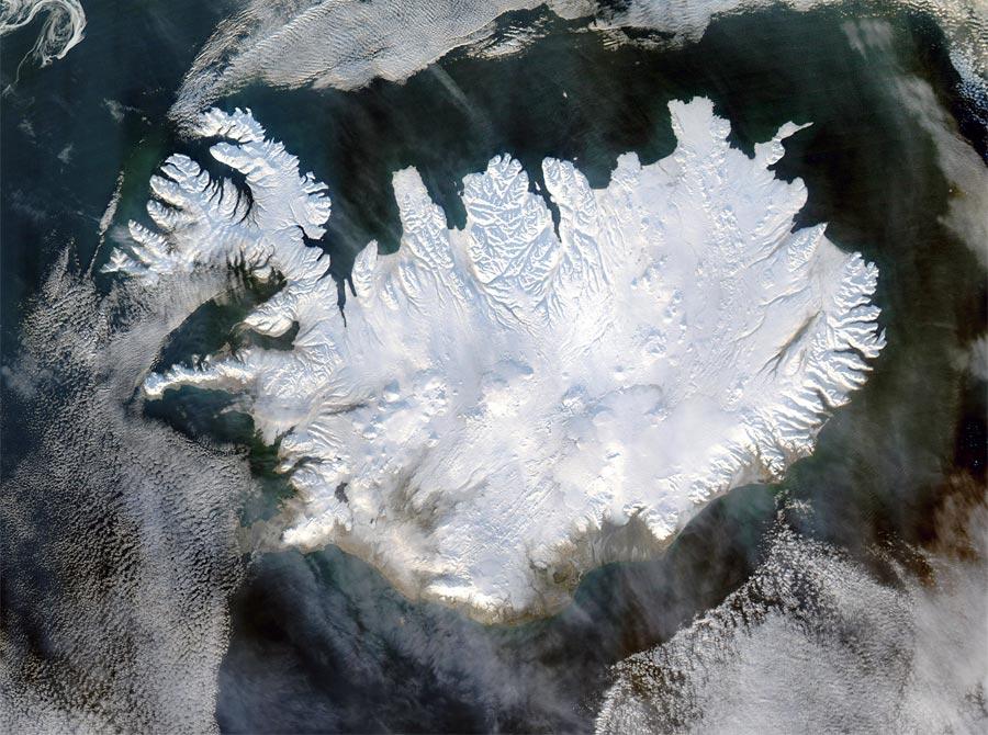 Satellitenbild Island