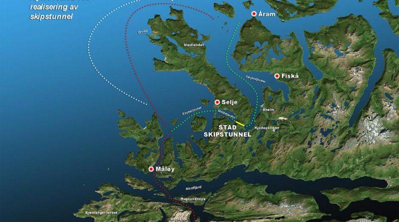 Karte Stad Schiffstunnel