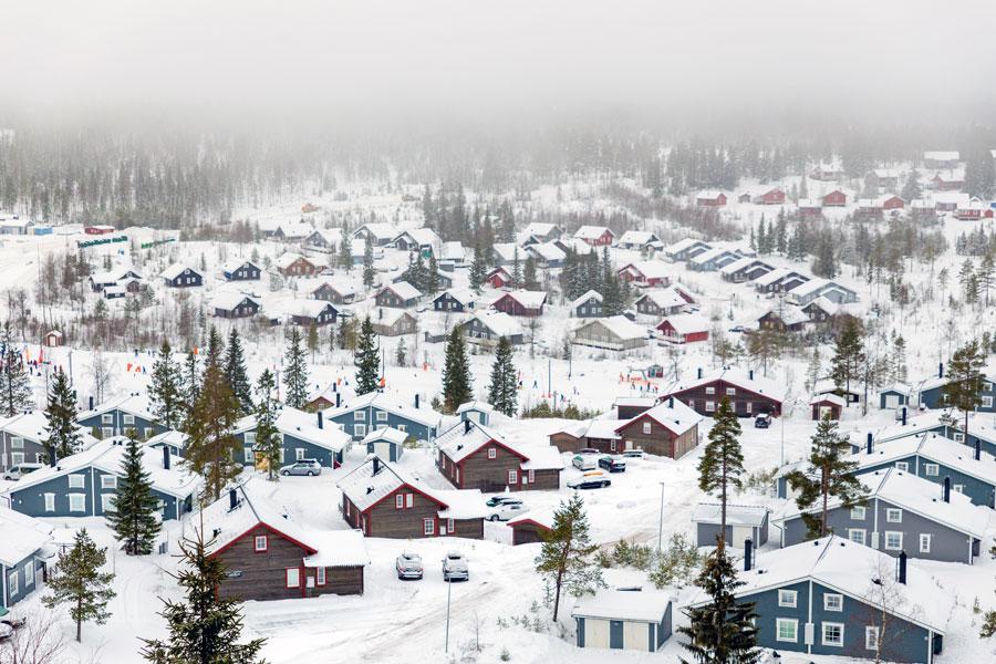 Sysslebäck: Neuschnee an Ostern in Schweden