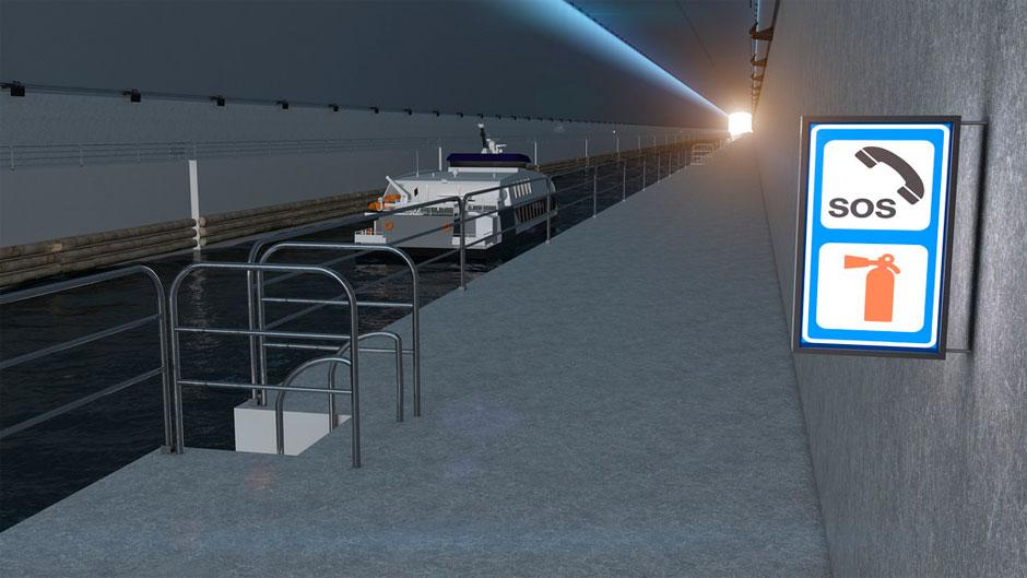 Schiff im Tunnel