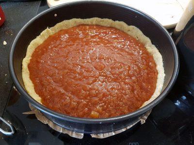 Marmelade auf dem Kuchen