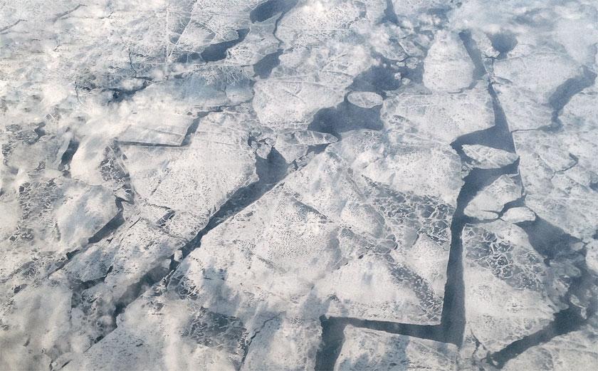 Luftaufnahme Eis auf der Ostsee