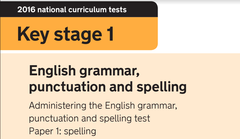 national curriculum test