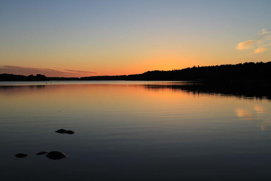 Sonnenuntergang Rauma, Finnland