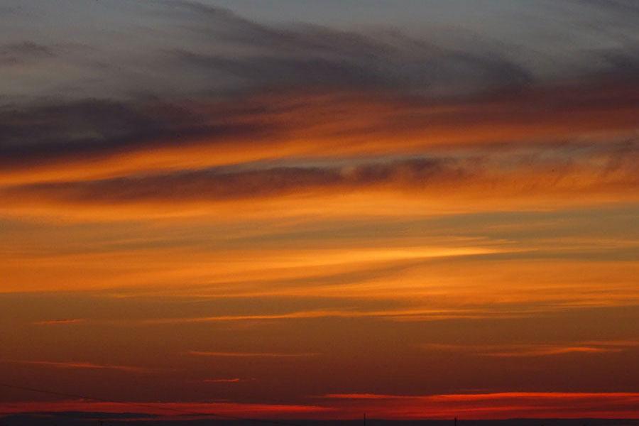 Sonnenuntergang Vaasa, Finnland