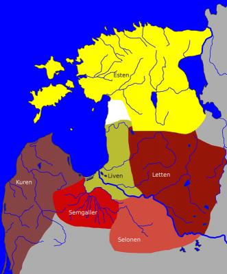 Karte: Livland vor 1200
