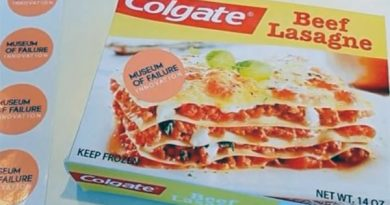 Colgate Lasagne, Museum of Failure