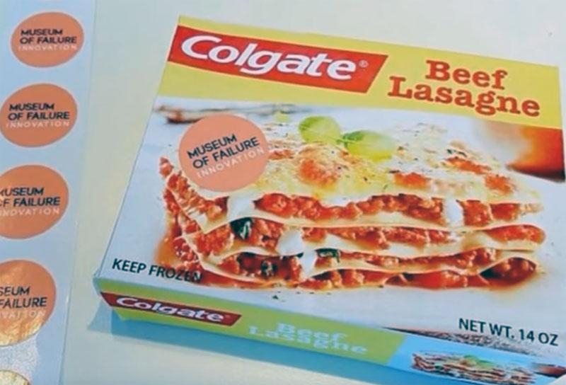 Colgate Lasagne, Museum of Failure