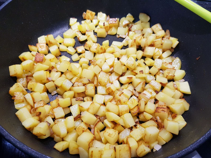 Goldbraune Bratkartoffeln