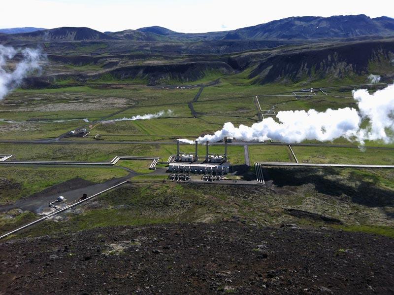 Geothermales Kraftwerk von Hellisheithi