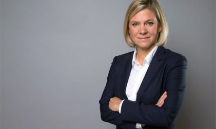 Schwedens Finanzministerin Magdalena Andersson