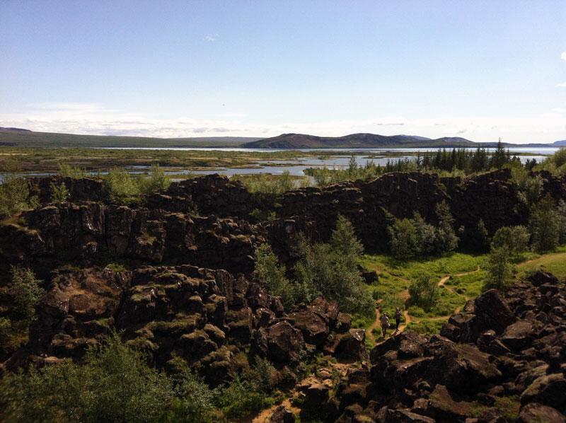 Thingvellir Nationalpark, Graben zwischen Erdplatten