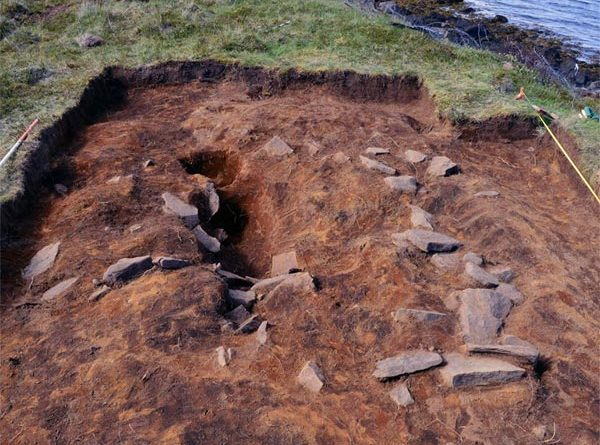 Wikingergrab Ausgrabung Island