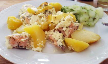 Dänischer Lachs Kartoffelauflauf Rezept