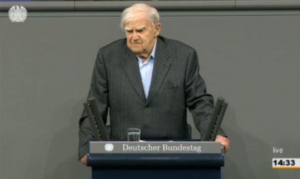 Daniil Granin bei der Bundestagsrede 2014