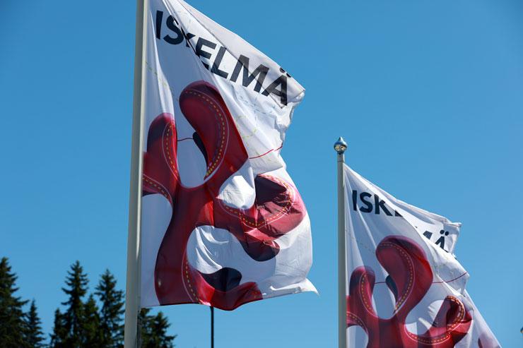 Flagge des Isklemä Festivals