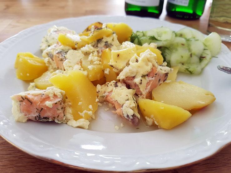 Lachs-Kartoffelauflauf