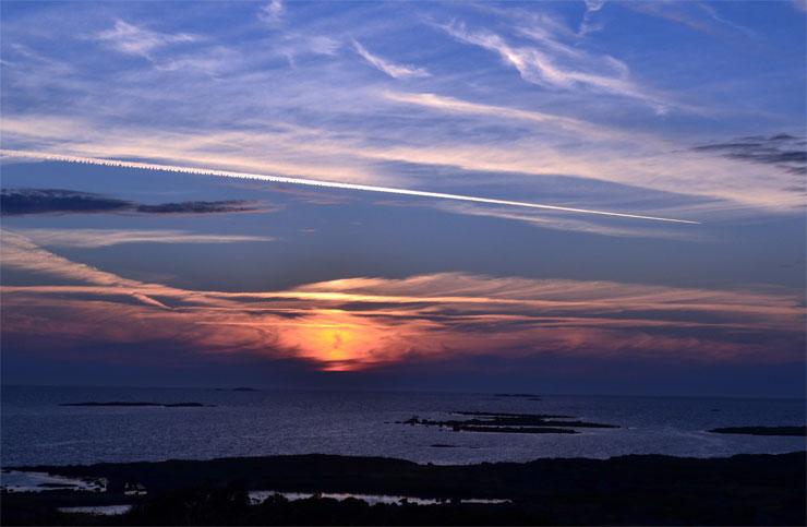 Sonnenuntergang am Femte Vik, Getterön
