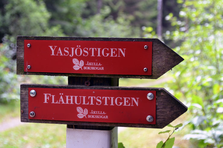 Wanderwege (Åkulla, Schweden)