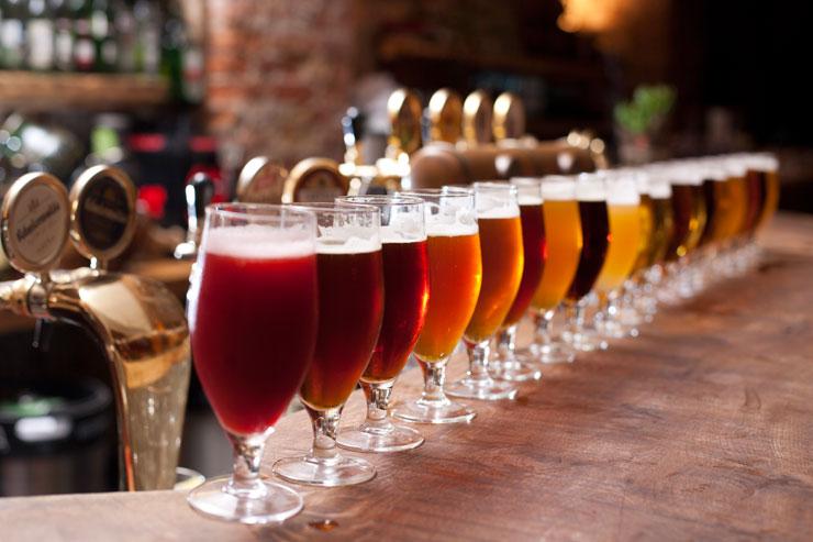 Große Auswahl an Biersorten