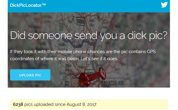 Screenshot Dick Pic Locator