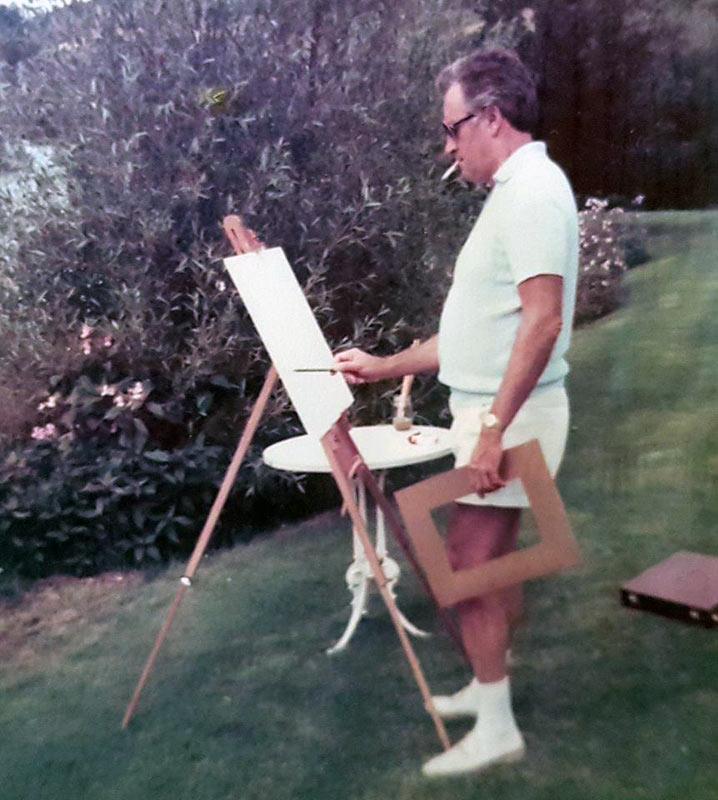 William Kelly als Maler