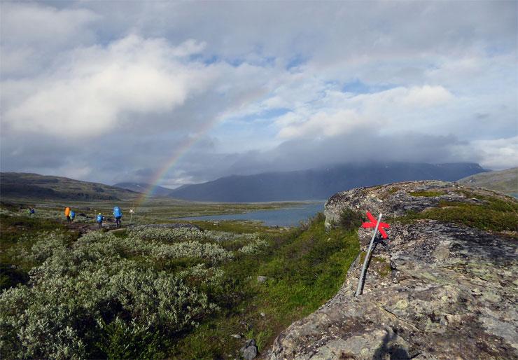 Wanderung, Regenbogen
