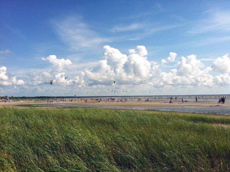 In Pärnu am Strand
