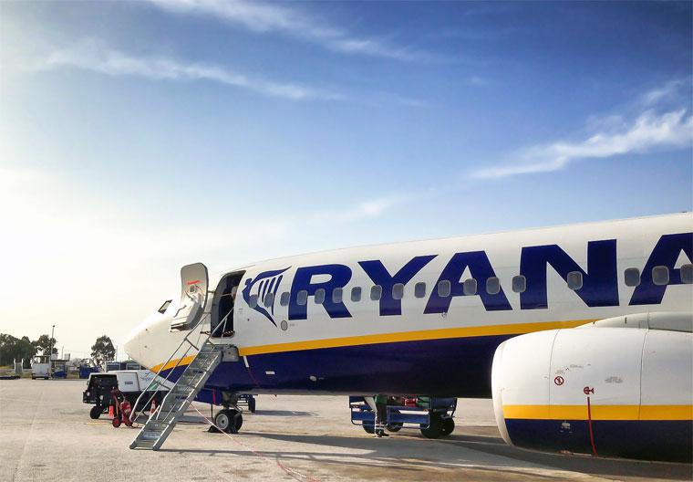 Ryanair am Boden