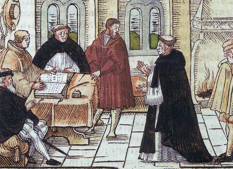 Reformator Martin Luther vor Cajetan