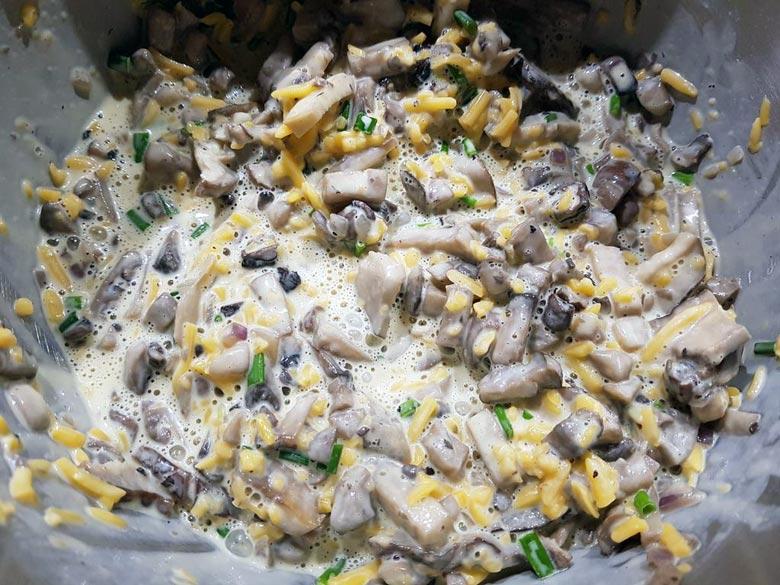 Pilze dazu - Zutaten fürs Rezept