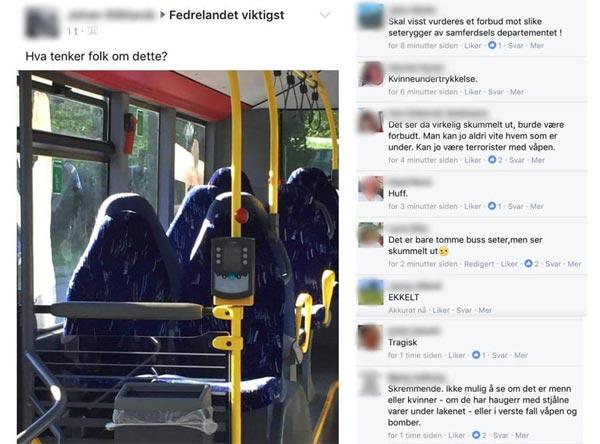 Leere Bussitze Burka