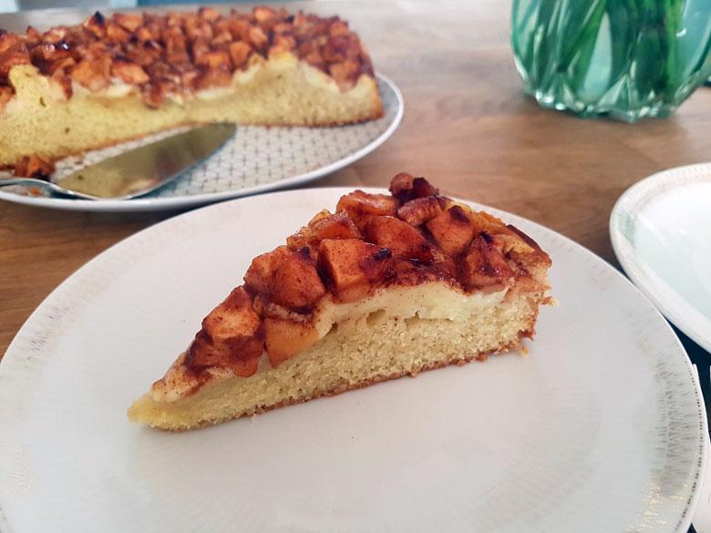 Nach einem Apfelkuchen-Rezept aus Dänemark