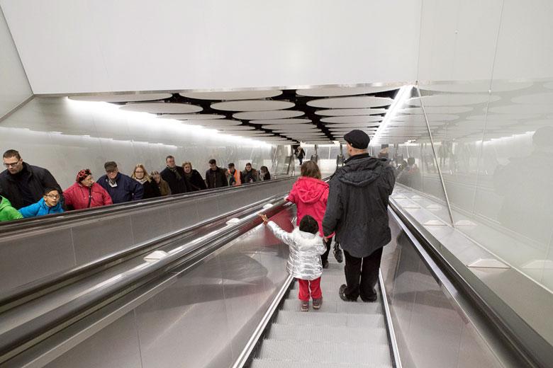 Jede U-Bahn Station hat ihre eigenes architektonisches Thema