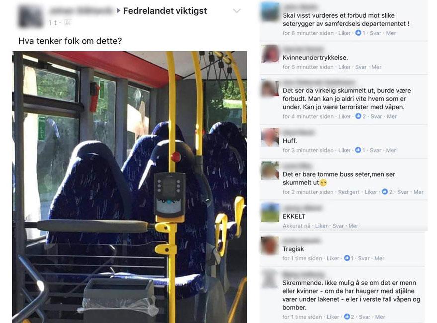 Leere Bussitze und die Reaktionen