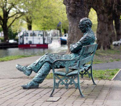 Patrick Kavanagh Denkmal am Grand Canal, Dublin