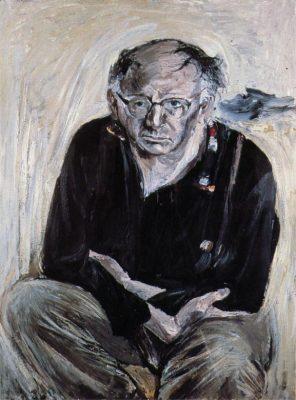 Patrick Kavanagh von Patrick Swift, London 1961, Öl auf Leinwand