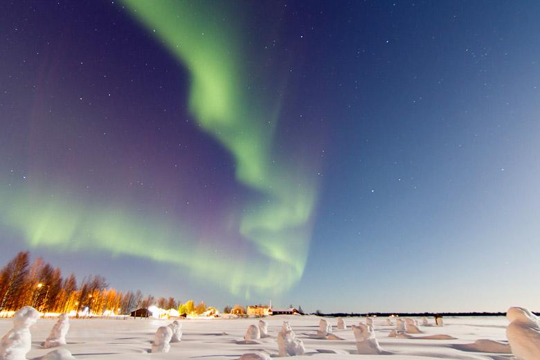 Revontulet auf Finnisch, Guovssahasah nennen die Samen das Polarlicht