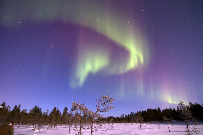 Flackernde, tanzende Polarlichter