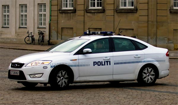 Polizeiauto Dänemark Kopenhagen