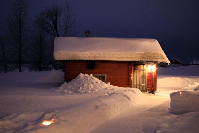 Sauna Ylläsjärvi Lappland