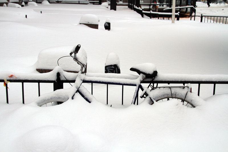 Typisch finnisches Winterbild
