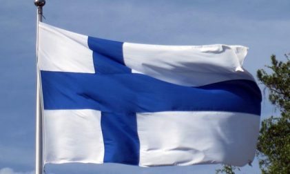 Finnland Flagge Fahne