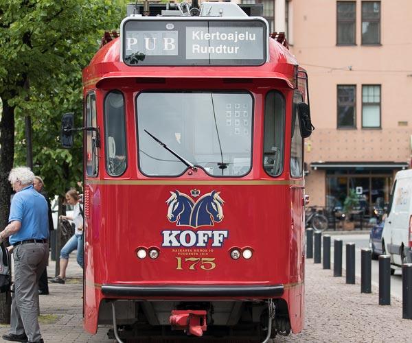 Koff-Tram. Fahrende Kneipe Helsinki